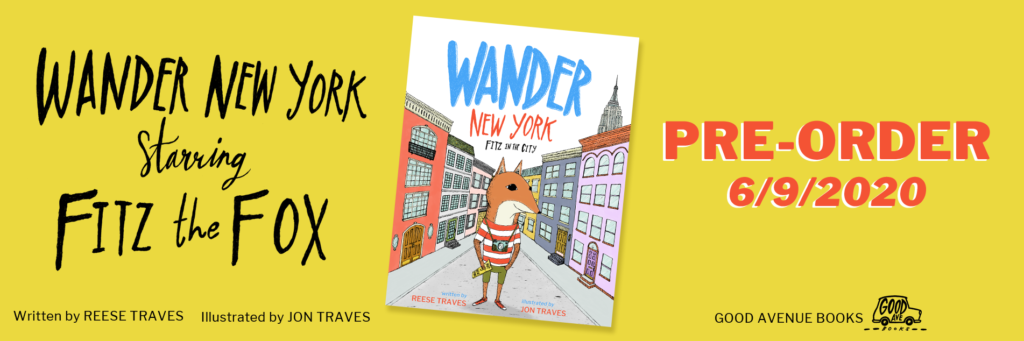 pre-order wander new york fitz in the city picture book starting in June 2020