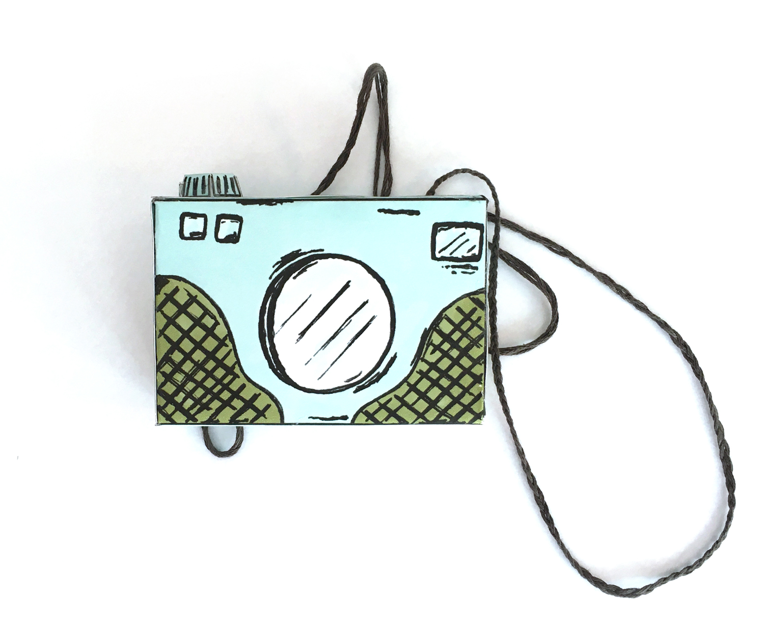 free printable paper camera template, paper crafts, kids craft ideas, retro camera, book character costume, diy costume ideas