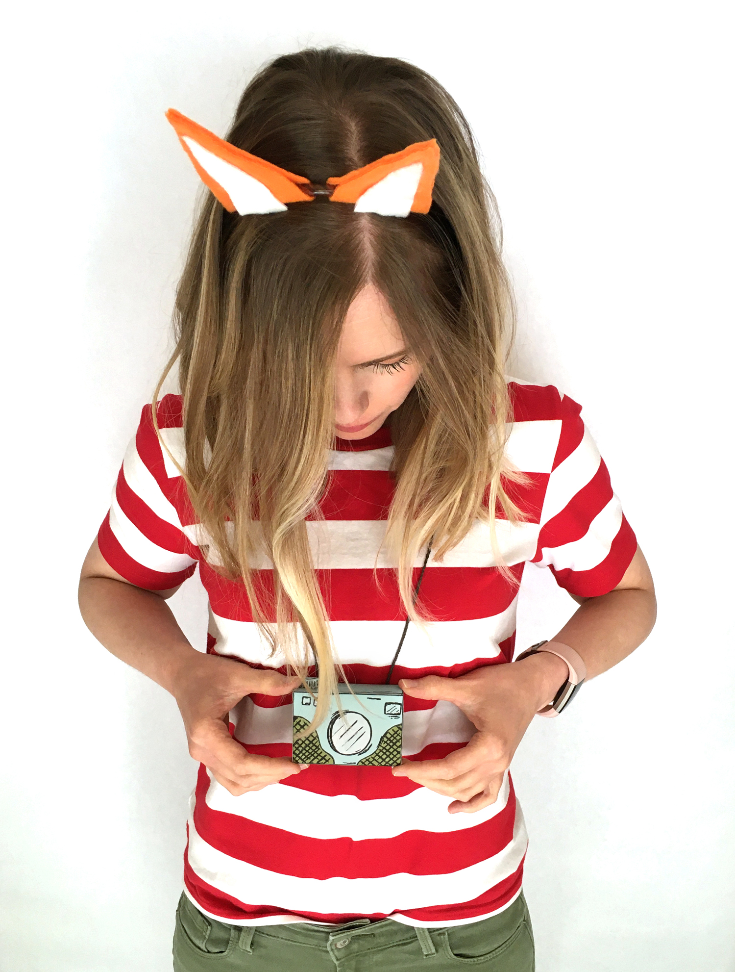 last minute halloween costume with free printable templates, fox costume, travel costume