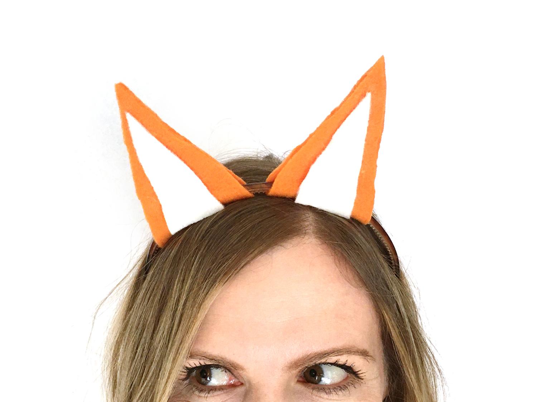 diy fox ears, free fox ears tutorial, no-sew fox ears, fox ears headband, animal ears headband, easy halloween costume, kids book costume ideas